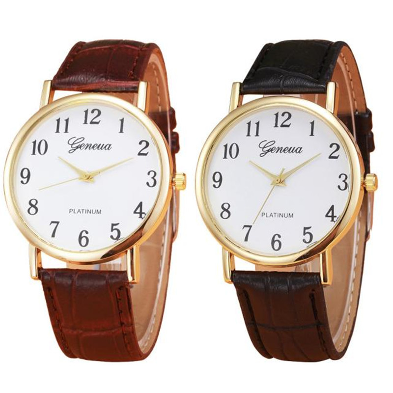 HF 2016 Hot-sale  New Retro Design Leather Band Analog Alloy Quartz Wrist Watch Gift relogio masculino Uhren Box Z519 5Down fabulous 1pc new women watches retro design leather band simple design hot style analog alloy quartz wrist watch women relogio