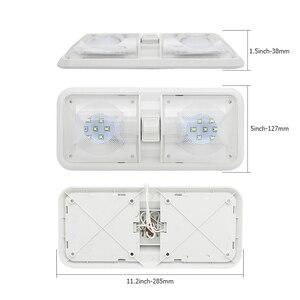 Image 2 - 28.5 سنتيمتر 12 فولت LED قافلة أضواء الداخلية RV القافلة المتنقلة مصباح المحرك اكسسوارات المنزل قبة ضوء مع التبديل