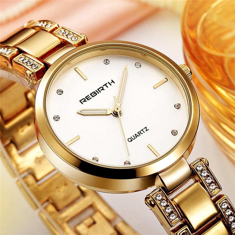 REBIRTH Staal Band Dames Horloges Casual Dames Horloges Topmerk Luxe - Dameshorloges - Foto 3