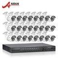 ANRAN 1080N 24CH HDMI DVR CCTV AHD Камеры Системы Безопасности 720 P 1800TVL ИК Открытый Пуля Камеры Видеонаблюдения комплект