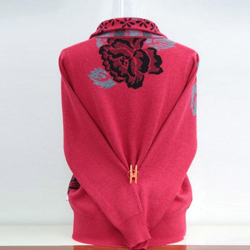 2019 dans le chandail âgé automne mère chargé épais yards cardigan à fermeture éclair chandail manteau femmes-in Cardigans from Mode Femme et Accessoires    2