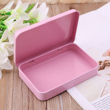 Pink Organizer Case Small Metal Storage Box For Currency Mon