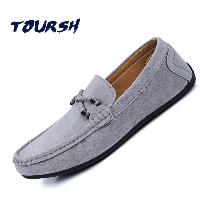 TOURSH New Shoes Men Casual Moccasins Men Loafers High Quality Leather Shoes Men Flats Gommino Driving Shoes Hommes Chaussures high quality 2016 new brand aqua two shoes men boat shoes full grain leahter loafers shoes for men us5 5 10 casual shoes men