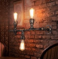 Loft Style Water Pipe Lamp Industrial Vintage Wall Light Fixtures Creative Edison Wall Sconce Indoor Lighting Lampara Pared|lampara pared|edison wall sconce|wall sconce -
