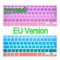 "Russian EU Version Silicone Keyboard Cover Skin Protector For Apple MacBook film Air Pro Retina 13 15 17"" inch"