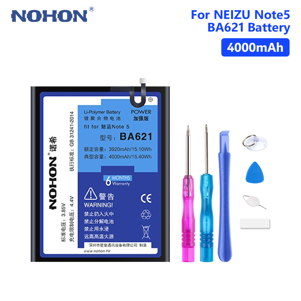 BA621 Real 4000mAh Rechargeable Lithium Polymer Battery For Mobile Phone Bateria Meizu M5 Note Note 5 Free Tools Retail PackageBA621 Real 4000mAh Rechargeable Lithium Polymer Battery For Mobile Phone Bateria Meizu M5 Note Note 5 Free Tools Retail Package