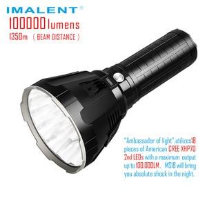 Image 1 - IMALENT MS18 ไฟฉาย LED CREE XHP70 100000 Lumens กันน้ำ 21700 แบตเตอรี่อัจฉริยะสำหรับค้นหา