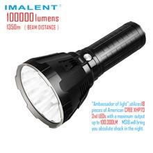 IMALENT MS18 LED פנס CREE XHP70 100000 Lumens Waterproof פלאש אור עם 21700 סוללה אינטליגנטי טעינה עבור חיפוש