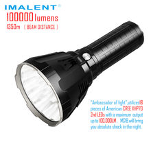 IMALENT MS18 LED Flashlight CREE XHP70 100000 Lumens Waterproof Flash light with 21700 Battery Intelligent Charging for Search(China)