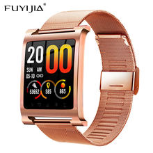 FUYIJIA Rose Gold Waterproof Smart Watch Woman New Multifunction Sports Watch Ladies Top Brand Female Clock 3D Arc Color Screen(China)