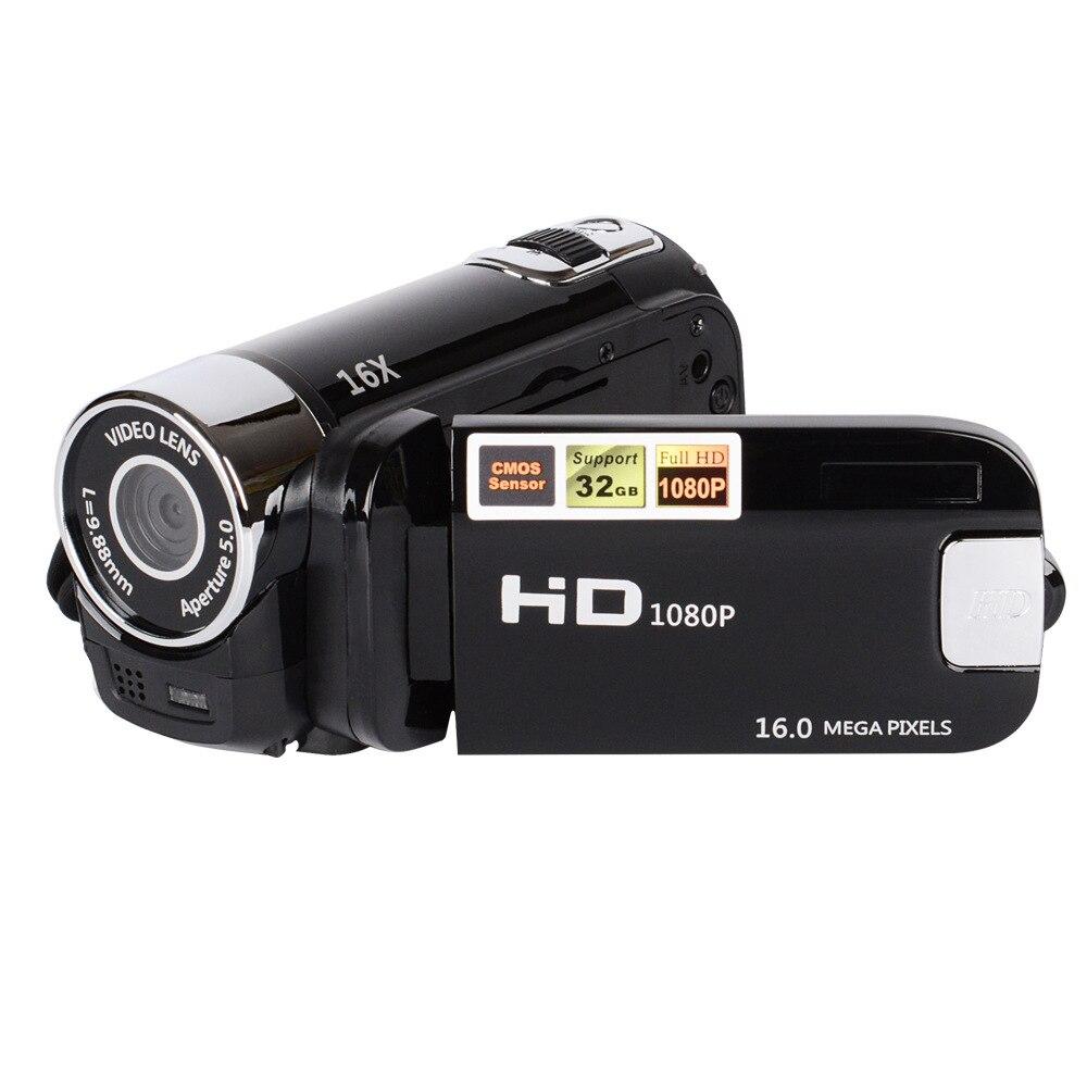 цена на 2018 Hot Sale 1080P HD Digital Camera DV DVR TFT LCD 16X Digital Zoom 16MP CMOS Anti Shaking HD Digital Camcorder