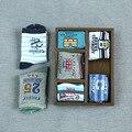 10 Pares de Paquete Nuevo Otoño de Los Niños Calcetines de La Raya de La Historieta Niños Calcetines Del Algodón Del Remiendo Niños Calcetín