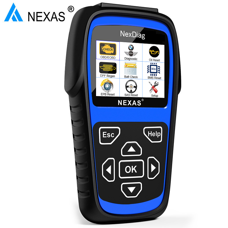 NEXAS ND601 For BMW / MINI Multi-Sysstem Diagnostic Scanner OBD Code Reader ABS/SRS airbag DPF Battery Registration Oil Service keneksi libra 2