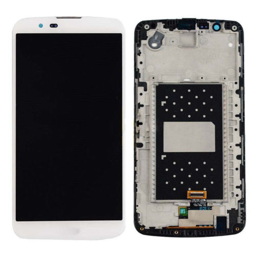 Black White LCD Display Touch Screen Digitizer Glass with Frame Assembly For LG K10 LTE K420N K430 K430ds free shipping 1 pcs for iphone 4s lcd display touch screen digitizer glass frame white black color free shipping free tools