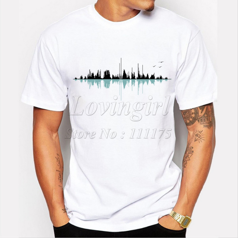 2017 fashion men 39 s music city printed t shirt harajuku tee. Black Bedroom Furniture Sets. Home Design Ideas