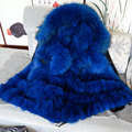 Black parka, blue fox fur,real blue fox fur,real natual fully fox fur coat,Mr&mrs winter wear black parka
