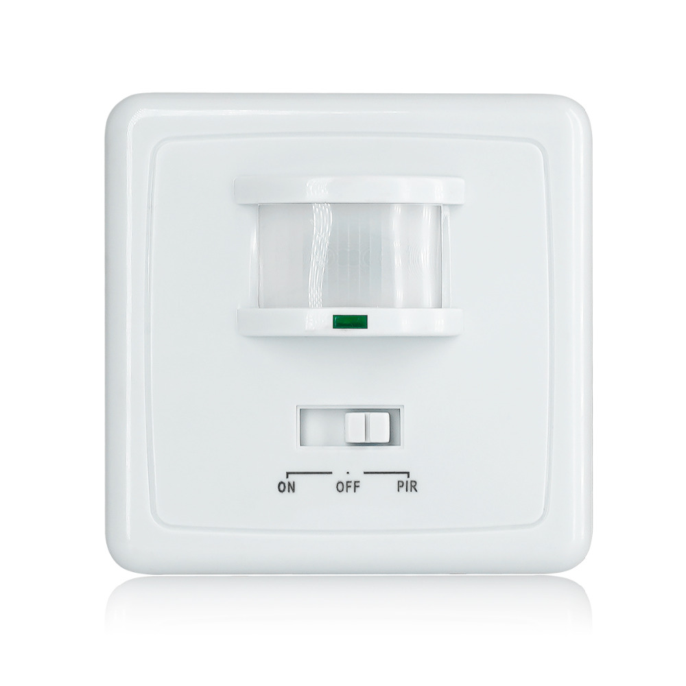 High quality wall mounted pir motion sensor light switch MAX 600w load+9m max  distanceHigh quality wall mounted pir motion sensor light switch MAX 600w load+9m max  distance