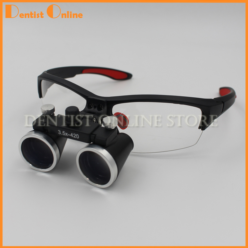 Équipement dentaire Chirurgical Dentistes Loupe Loupes Dentaires 3.5X420mm  Lunettes Chirurgicales 0dd72bad4ffe
