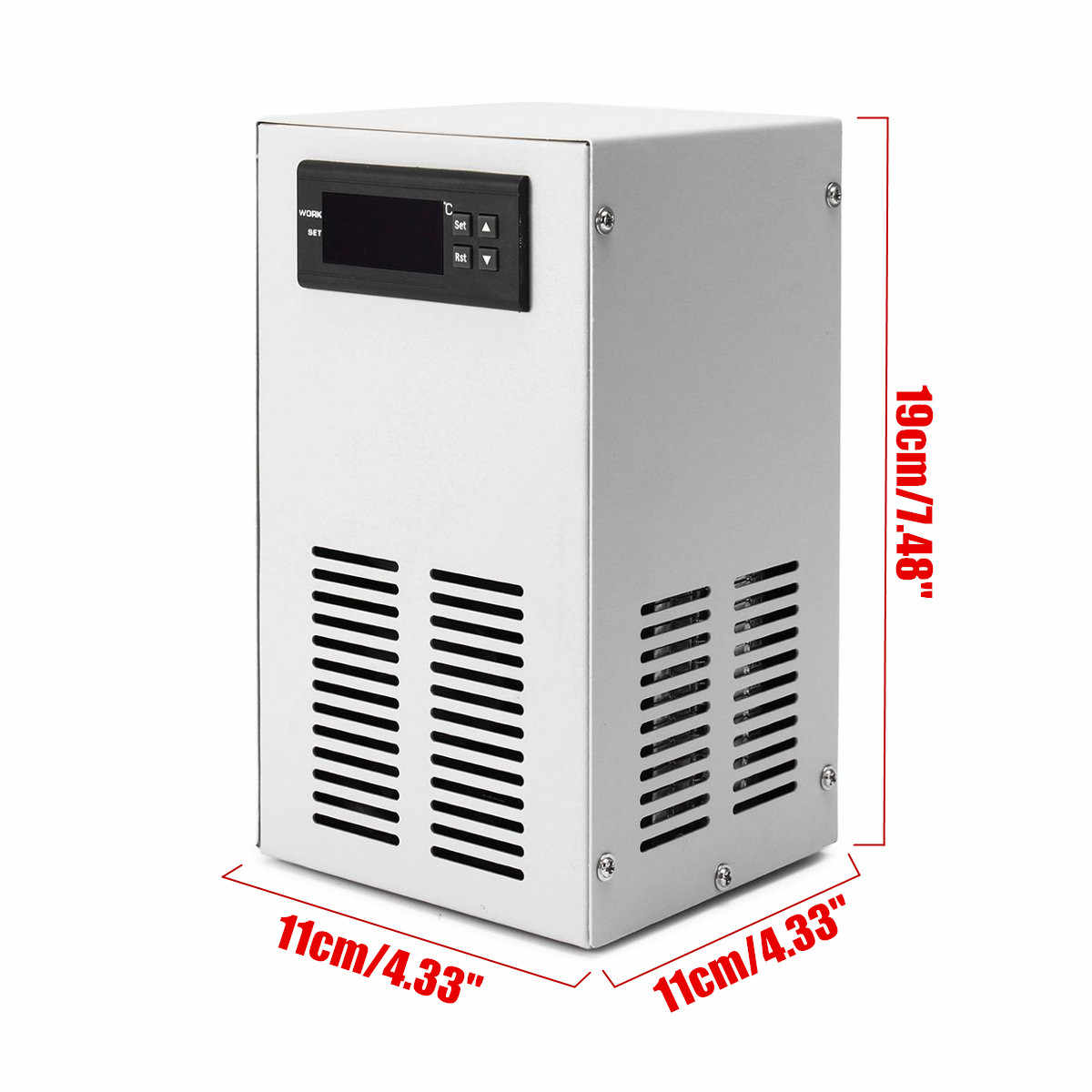 液晶ディスプレイの水チラー冷却デバイス 35L 72 ワット水族館の水槽定冷却装置温度制御ツール