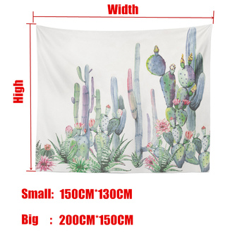 Wall Hanging Cactus Tapestry Cotton Bohemian 200*150cm Cover Beach Towel Throw Blanket Picnic Yoga Mat Home Decoration Textiles 2