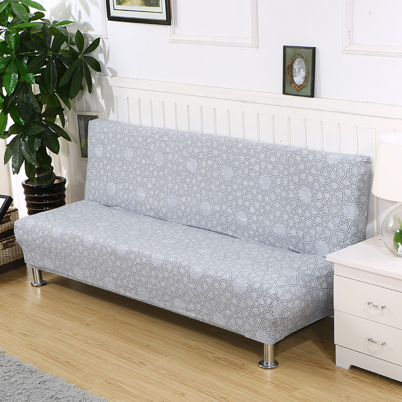 Universal size Armless Sofa Bed Cover Folding seat slipcovers stretch covers cheap Couch Protector Elastic bench Covers 1115