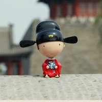 The Palace Museum Souvenirs Champion Doll Blessing Bobble Head Resin Doll