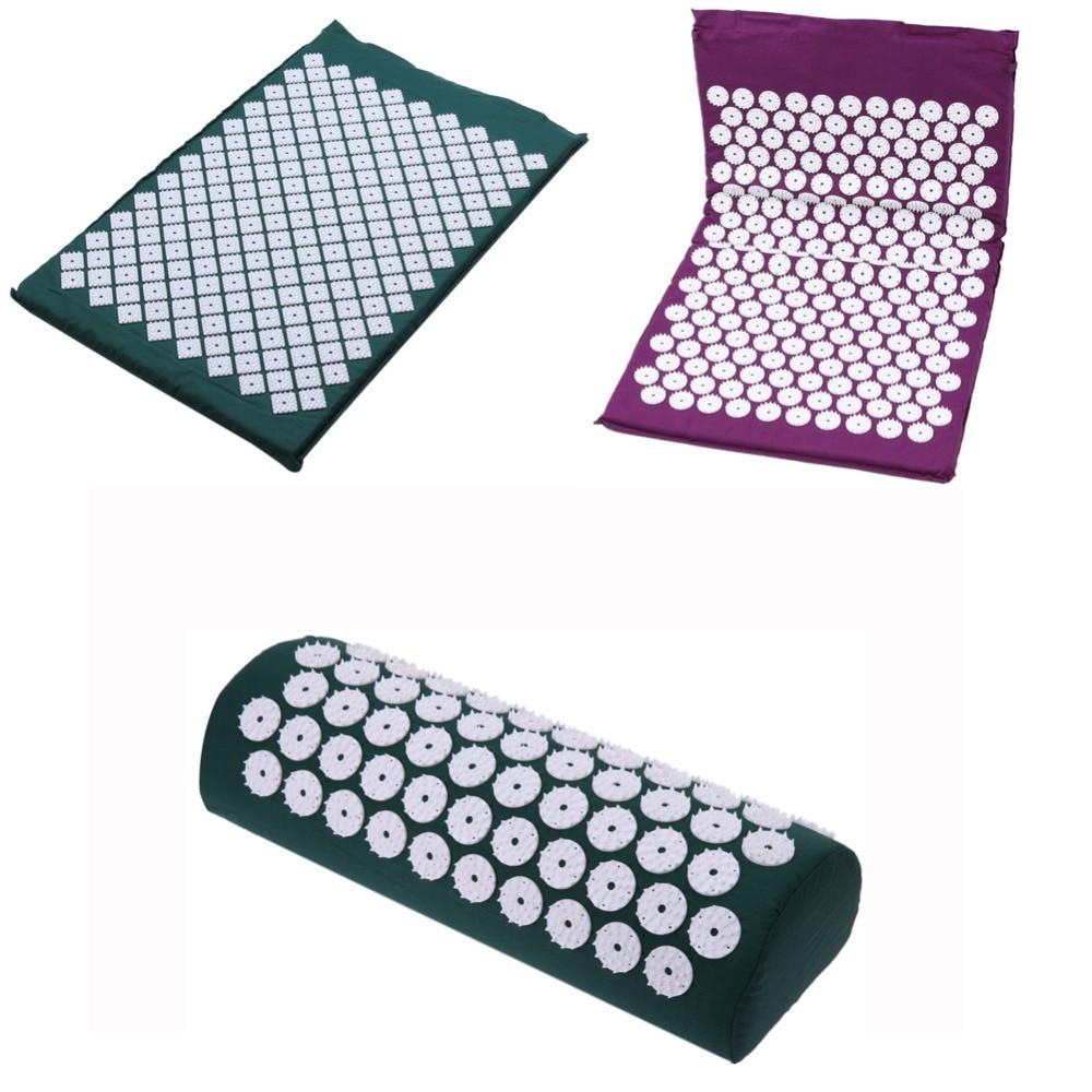 цена на Yoga Mat Massager Pillow Foot Massage Cushion Acupressure Mat Relieve Stress Pain Acupuncture Spike Yoga Mat Pin Pad Yoga Mat
