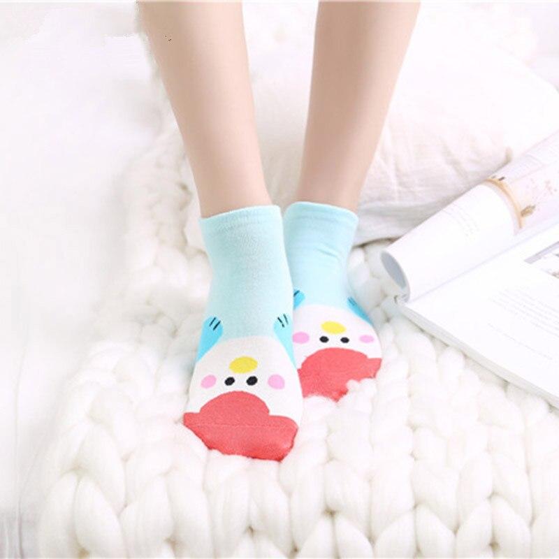 [WPLOIKJD]Spring/Summer Candy Color Comfort Short Socks Stealth Lovely Ankel Cartoon Cotton Socks Women Ears harajuk