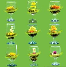 15 unids bolas de té de flores Chino, flor de té hecho a mano, el té artístico bolas está comprimido con el paquete vacío