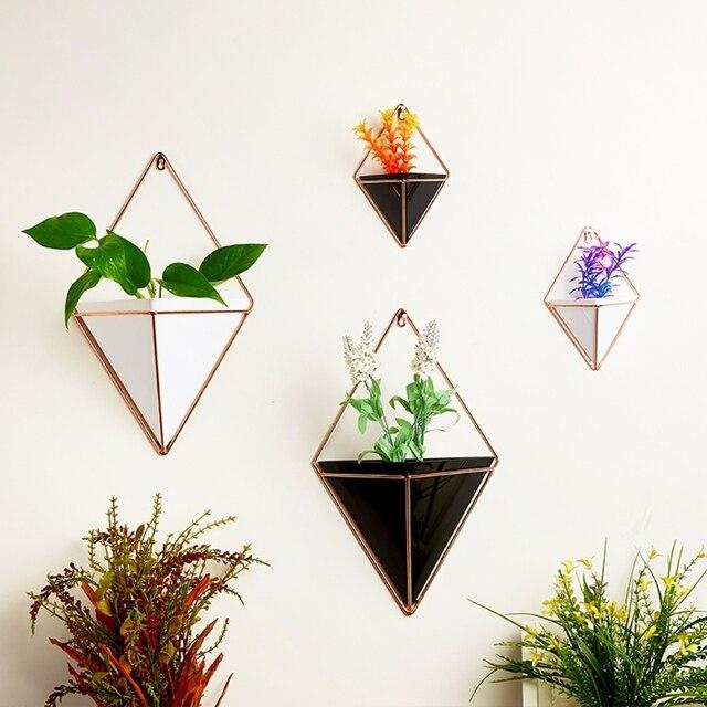Geometric Hanging Flower Pots Holder Garden Succulent Plants Decorations
