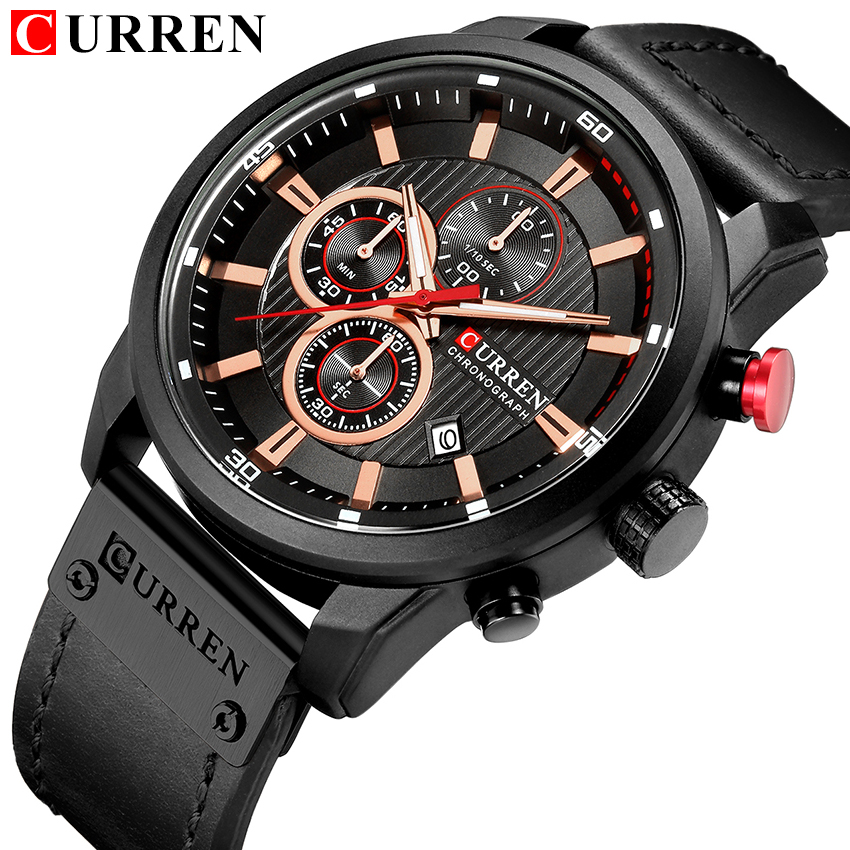 HTB1ZQ07pKuSBuNjSsplq6ze8pXam Top Brand Luxury Chronograph Quartz Watch Men Sports Watches Military Army Male Wrist Watch Clock CURREN relogio masculino