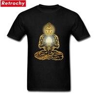 Buddha T Shirts Men Gautama Short Sleeved O Neck Peruvian Cotton Custom Screen Printing Adults Tees