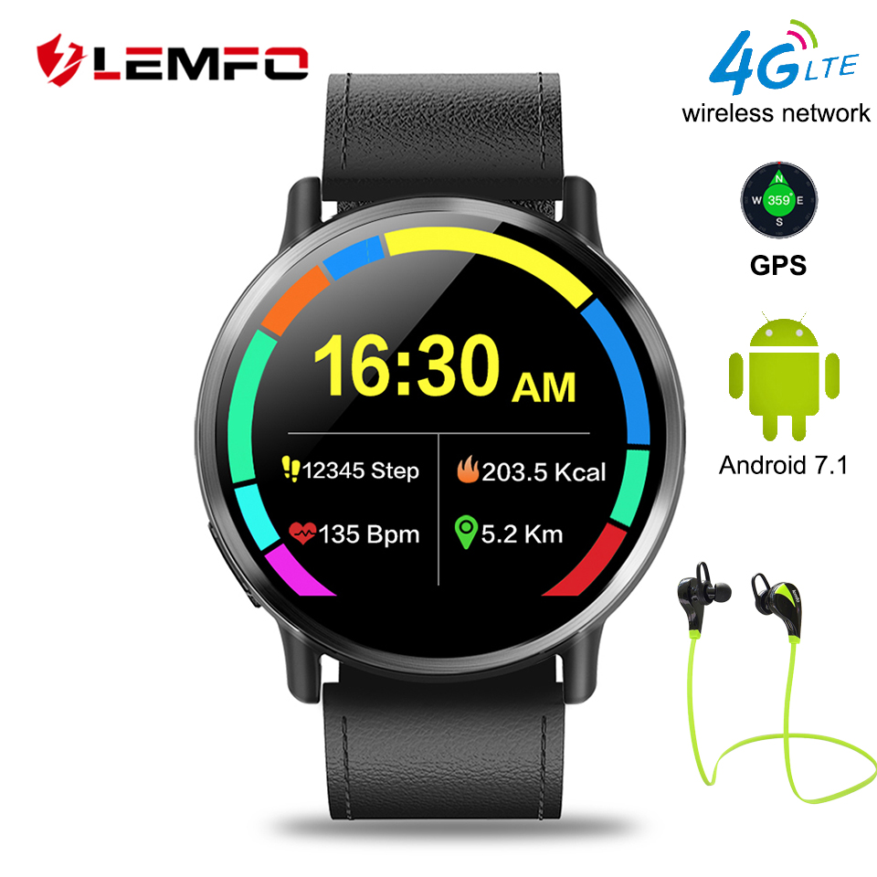 LEMFO LEM X Smartwatch Android 7.1 LTE 4G Sim WIFI 2.03 Inch 8MP Camera GPS Heart Rate IP67 Waterproof Smart Watch for Men Women цена