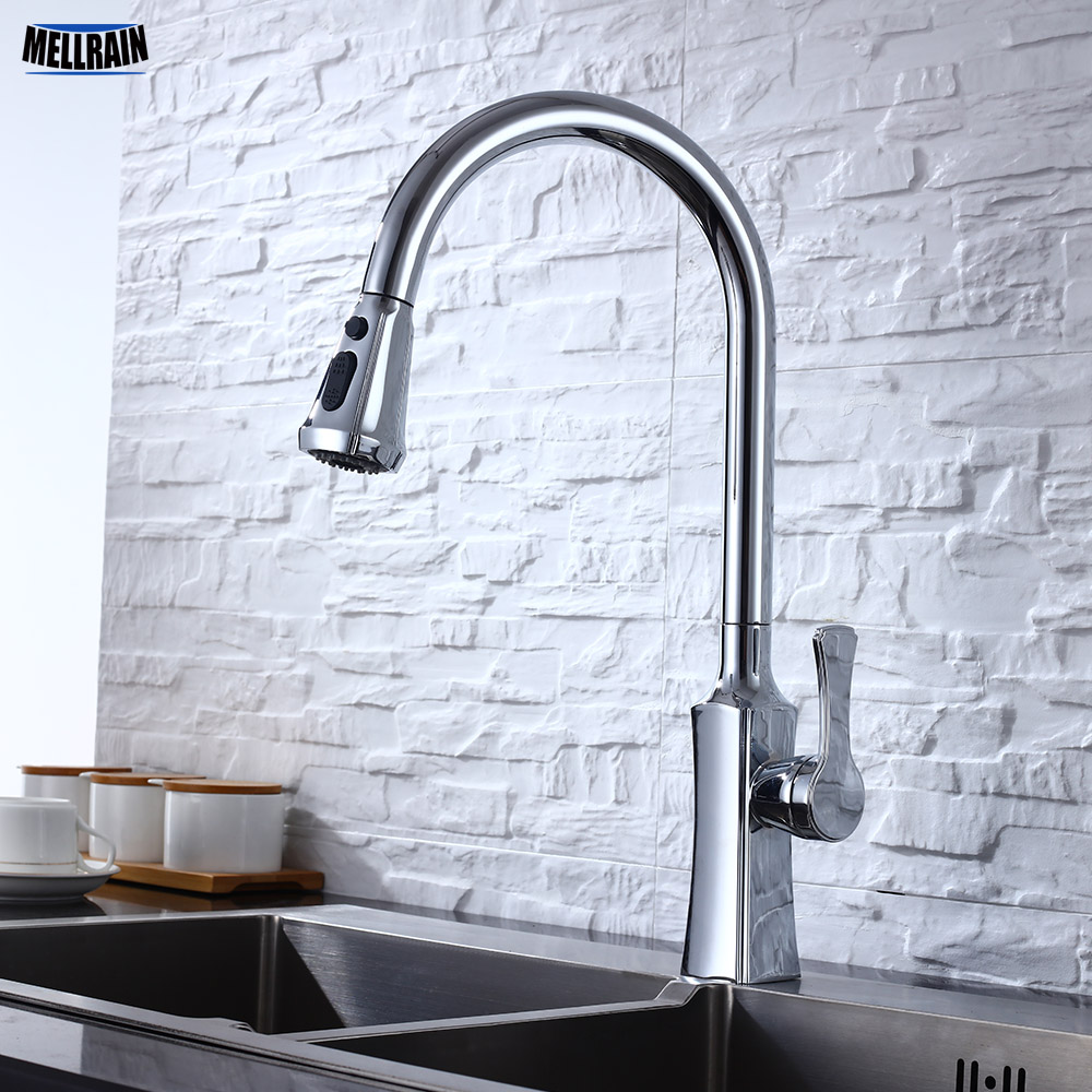 Pull Out Kitchen Water Mixer Faucet Black White Nickel Brushed 3 Colors Choice Single Hole Kitchen Sink Water Tap WaretapPull Out Kitchen Water Mixer Faucet Black White Nickel Brushed 3 Colors Choice Single Hole Kitchen Sink Water Tap Waretap
