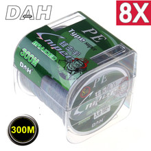 DAH Sniper8 Super Strong 300M 8 Strands Weaves PE Braided Fishing Line Rope Multifilament 15LB 20LB