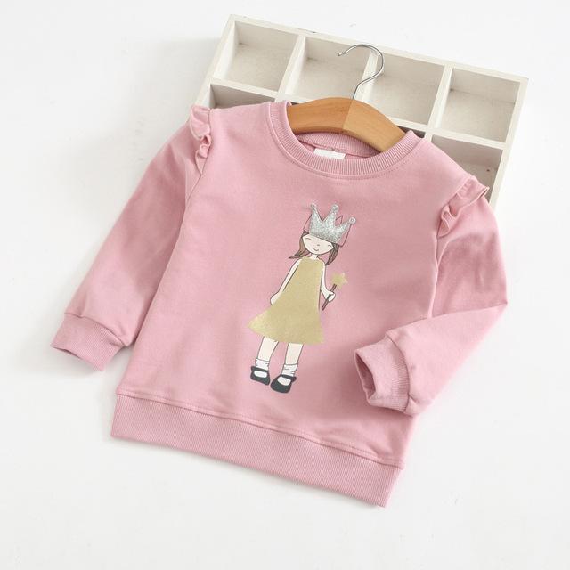 Girls' Casual Bright Cotton Sweatshirt