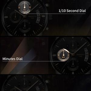 Image 4 - NIBOSI Gold Watch Chronograph Sport Watch Men Business Waterproof Quartz Watch Relogio Masculino Man Military Mens Watches Clock