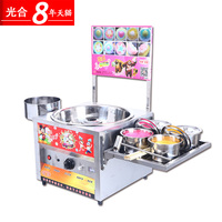 Commercial Gas Cotton Candy Machine Kids Colored Wiredrawing Detachable Table Excellent Heat Dissipation Effect Food Processor