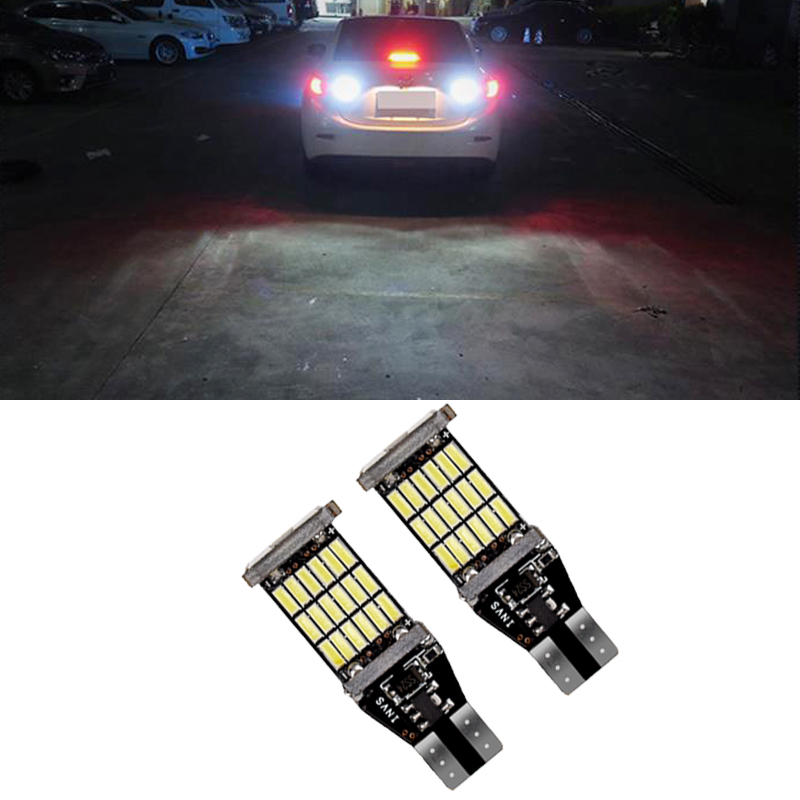 <font><b>Car</b></font> <font><b>T15</b></font> Canbus <font><b>LED</b></font> Bulbs Auto <font><b>Led</b></font> Reverse <font><b>Lamps</b></font> Back Up Lights For Mazda 8 cx-3 cx3 cx-5 cx5 8 cx 5 m8 rx8 m5 2008 - 2018 image