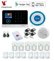 Yobang Security 433Mhz WIFI GSM Alarm system with mobile phone APP easy control all sensor burglar alarm home security kit