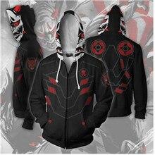 Overwatch Genji Mercy Full Zip Thin Hoodies Cool Pullover Unisex Sweatshirt