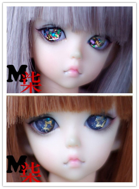 Free Shipping,new arrival 2pairs acrylic bjd eyes 8mm10mm12mm14mm16mm18mm20mm