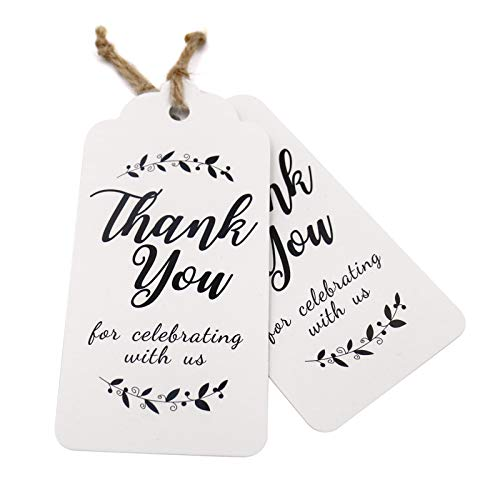 Kraft gift tags Thank You for Celebrating with Us paper tags for baby shower party favors personalized wedding gifts for guests in Party Favors from Home Garden
