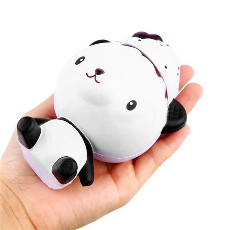 Exquisite Fun Q Poo Panda Scented Squishy Charm Slow Rising 13cm Simulation Toy Novelty Funny Gadgets Anti Stress Toys*30