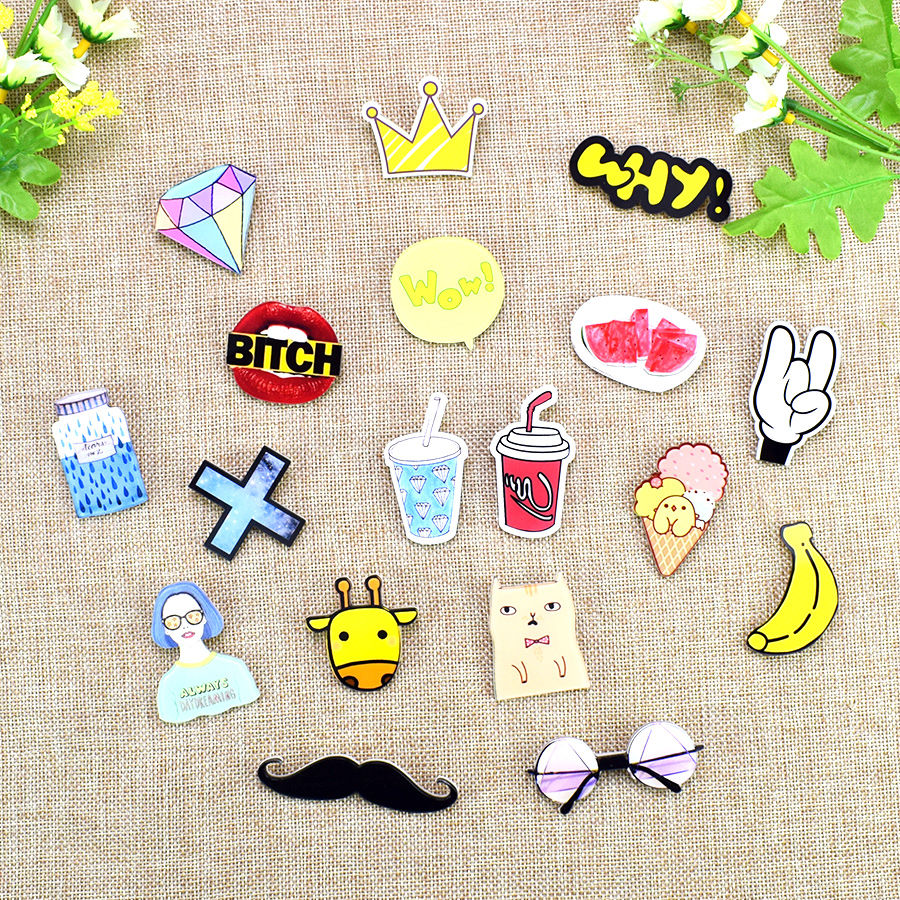 Home & Garden Sunny Tq 1pcs Mix Fruit Cartoon Icons On The Pin Kawaii Icon Badge Bacges On Backpack Badges For Clothing Acrylic Badges No6 Rapid Heat Dissipation Apparel Sewing & Fabric