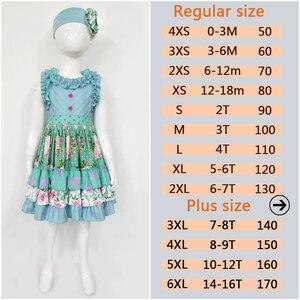 Image 3 - Brand New Summer Girl Dress Sleeveless Girls Casual Maxi Dresses Fashion Chevron Kids Clothes Without Headband LYQ803 080