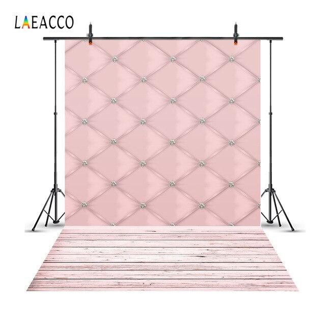 Laeacco Headboard Diamond Soft Decor Net Wood Baby Photography Backgrounds Custom Photographic Backdrops PropsFor Photo Studio