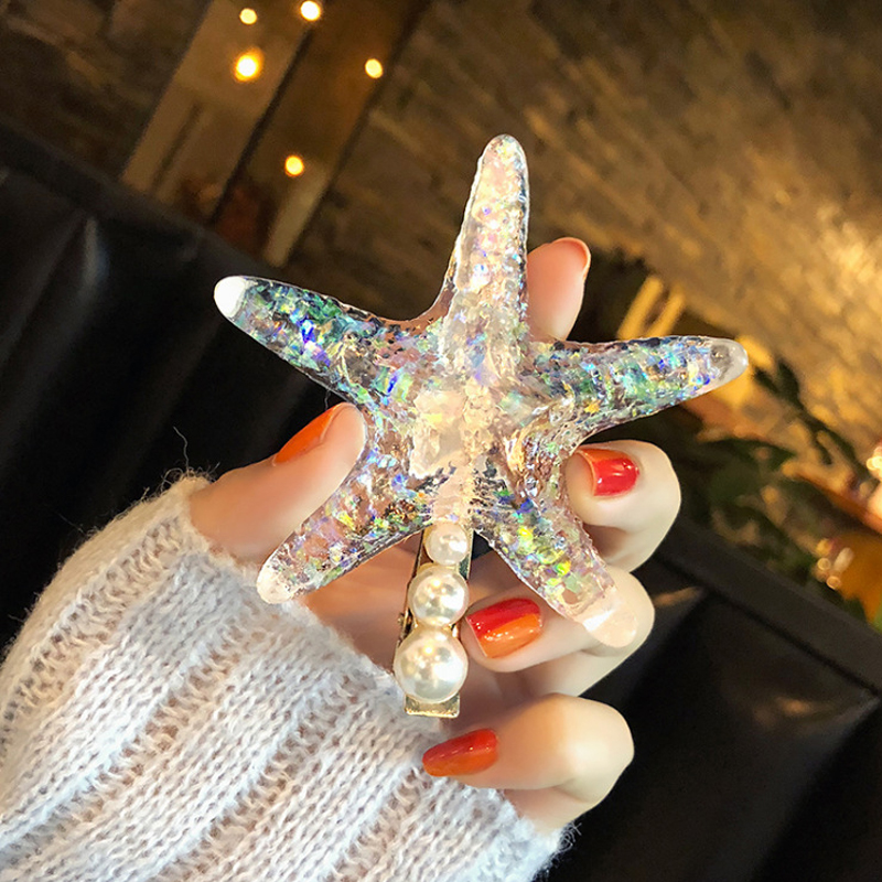 Summer Women Over Sized Hairpins Beach Starfish Fashion Lady Hair Clips For Women Hair Accessories Girl Accessories