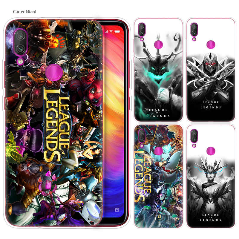 Siliconen Case voor Xiao mi rode Mi note 7 6 5 plus mi A2 8 lite PRO prime Spelen Telefoon gevallen Cover league of legends lol yasuo