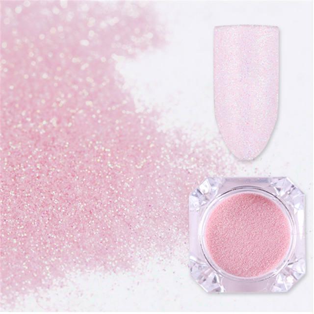Pearlescent Pink Nail Glitter Powder